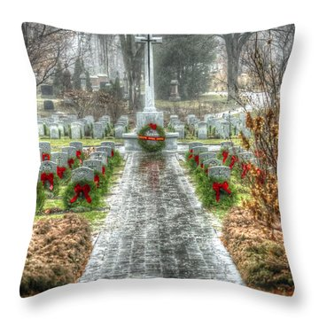 The Cross Of Sacrifice Throw Pillow