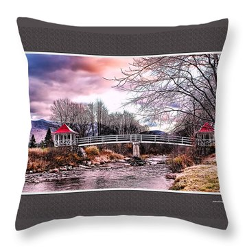 The Crossing II Brenton Woods Nh Throw Pillow