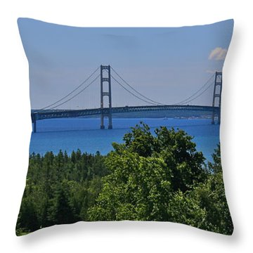 The Crossing Throw Pillow by Kathleen Scanlan