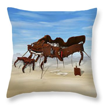 The Crossing Panorama Throw Pillow by Mike McGlothlen
