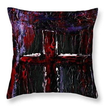 The Crossroads #1 Throw Pillow by Roz Abellera Art