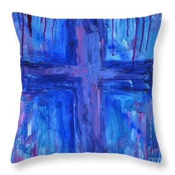 The Crossroads #2 Throw Pillow by Roz Abellera Art