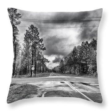 The Crossroads Throw Pillow by Howard Salmon