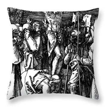 The Crucifixion Throw Pillow by Albrecht Durer