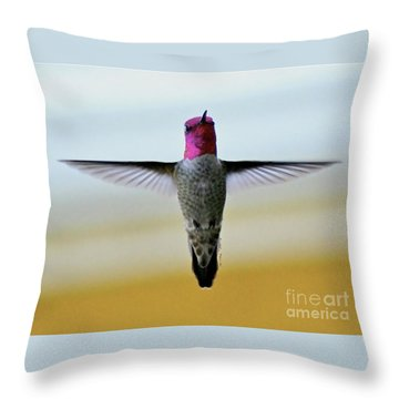 The Crucifixion Throw Pillow by Debby Pueschel
