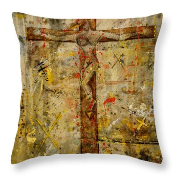 the Crucifying of the Sacred Feminine  Throw Pillow