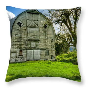 The Crying Barn Throw Pillow