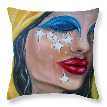 The Crying Flag - La Bandera Que Llora Throw Pillow
