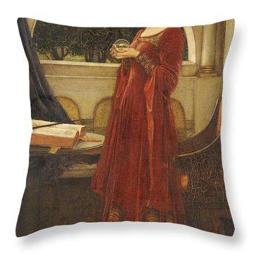 The Crystal Ball, 1902 Oil On Canvas Throw Pillow
