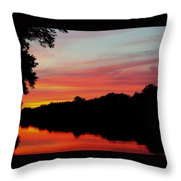 Throw Pillow featuring the photograph The Cumberland At Sunset by Chris Tarpening