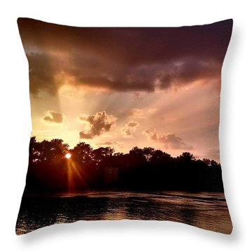 Throw Pillow featuring the photograph The Cumberland River by Chris Tarpening