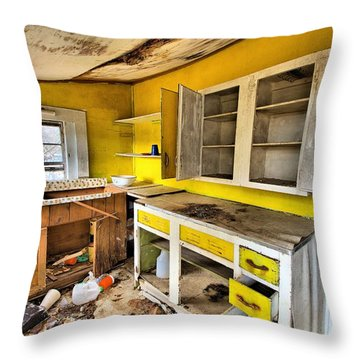 The Cupboard Is Bare Throw Pillow