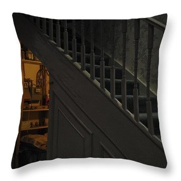 The Cupboard Under The Stairs Throw Pillow by Gina Dsgn