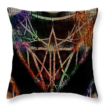 The Curious Colours Of Life Throw Pillow