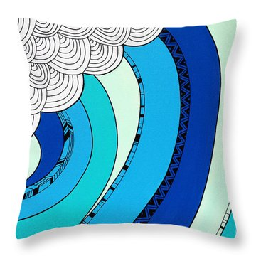 The Curl Throw Pillow by Susan Claire