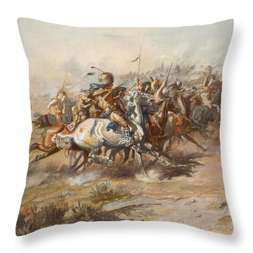 The Custer Fight  Throw Pillow by War Is Hell Store