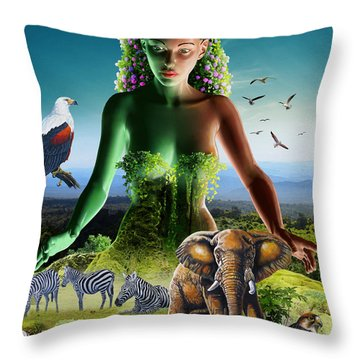 The Custodian Throw Pillow by Anthony Mwangi