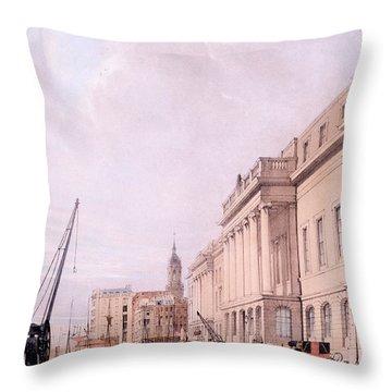 The Custom House, From London Throw Pillow