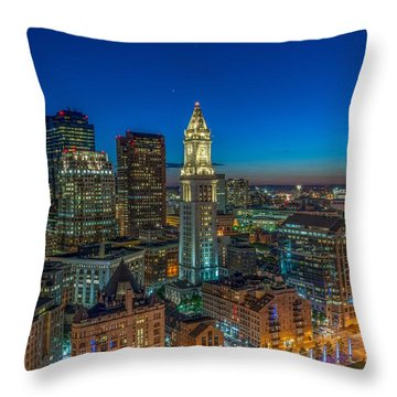 The Customs House Rose Kennedy Greenway And The Zakim Bridge Throw Pillow