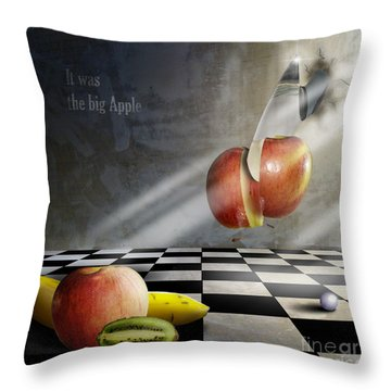 The Cut Throw Pillow by Bruno Santoro