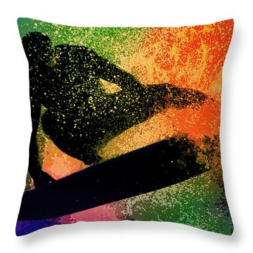 The Cutback Throw Pillow by Michael Pickett