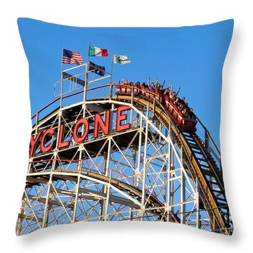 The Cyclone Throw Pillow by Ed Weidman