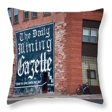 The Daily Mining Gazette Throw Pillow