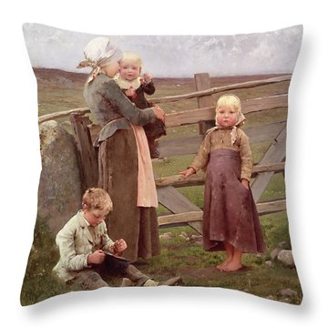 The Dalby Gate Throw Pillow