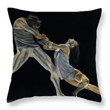 The Dance Throw Pillow by James Kruse