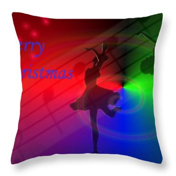 The Dance - Merry Christmas Throw Pillow