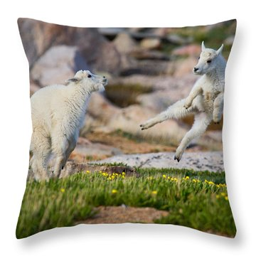 The Dance Of Joy Throw Pillow by Jim Garrison