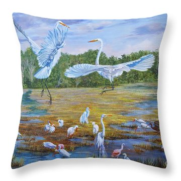 The Dance Of Life Throw Pillow