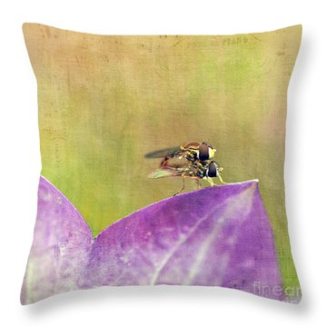 The Dance Of The Hoverfly Throw Pillow