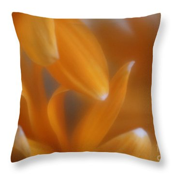 Throw Pillow featuring the photograph The Dance Of The Petals by Mary Lou Chmura