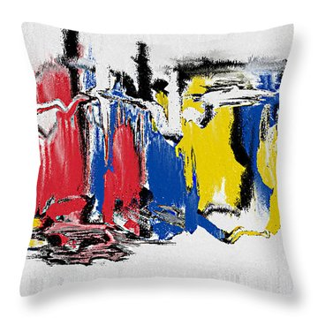 Throw Pillow featuring the painting The Dance by Roz Abellera Art