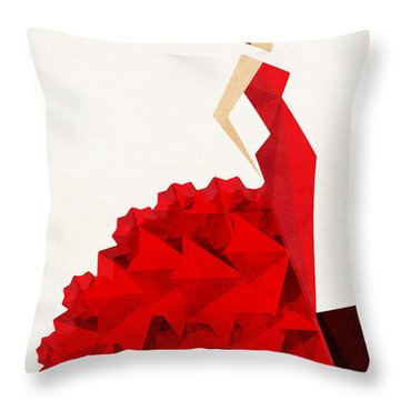 The Dancer Flamenco Throw Pillow