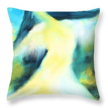 The Dancer Throw Pillow by Hilda Lechuga