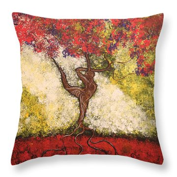 The Dancer Series 7 Throw Pillow