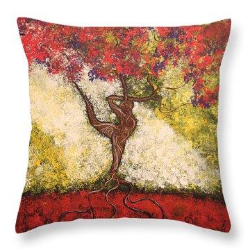 The Dancer Series 7 Throw Pillow