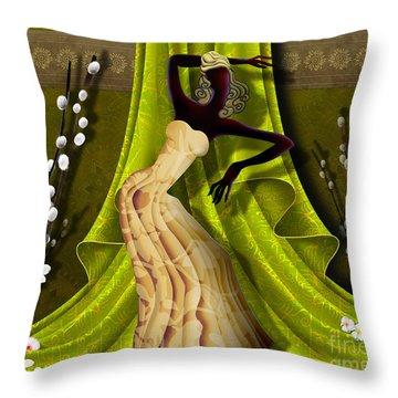 The Dancer V3 Throw Pillow by Bedros Awak