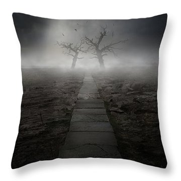 The Dark Land Throw Pillow by Jaroslaw Blaminsky