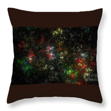 The Dark Side Of Monet Throw Pillow by Peter R Nicholls