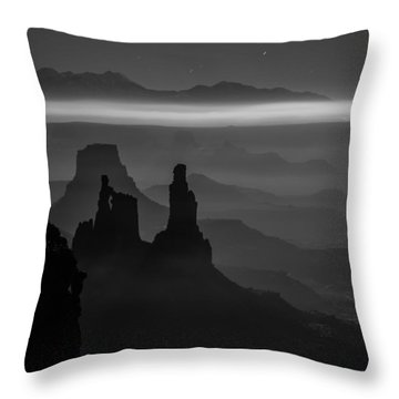 The Dark Side Of The Moon Throw Pillow by Dustin  LeFevre