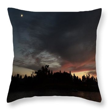 The Dark Side Of The Sunset Throw Pillow