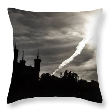 Throw Pillow featuring the photograph The Dark Towers by Stwayne Keubrick