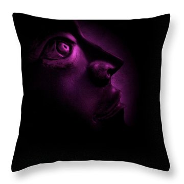 The Darkest Hour - Magenta Throw Pillow by David Dehner