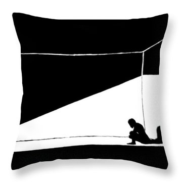 The Darkned Room Throw Pillow by Justin Moore