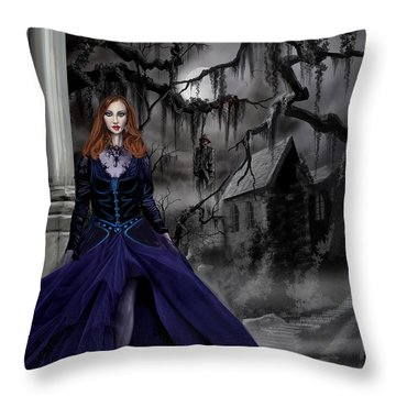 The Darkness Of The South Throw Pillow