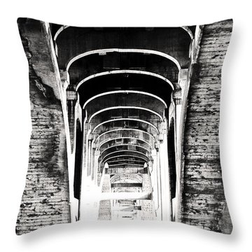 The Darkness Retreats Throw Pillow