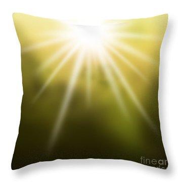 The Dawn Throw Pillow by Atiketta Sangasaeng